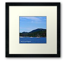 Maine - Boats and Cadillac Mountain Framed Print