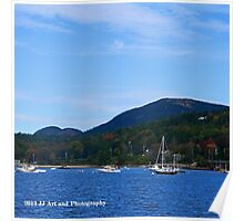 Maine - Boats and Cadillac Mountain Poster