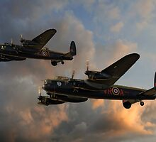BBMF and Canadian Warplane Heritage Museum Lancasters by © Steve H Clark Photography