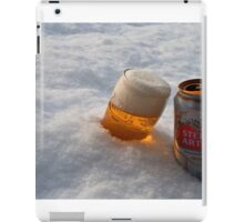 Beer in the snow iPad Case/Skin