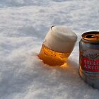 Beer in the snow by Rob Hawkins