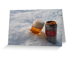 Beer in the snow Greeting Card