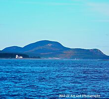 Maine - Lighthouse and Cadillac Mountain by jezebel521