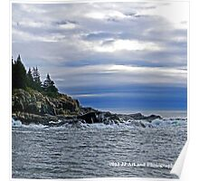 Maine - Bar Harbor Rocky Coastline Poster