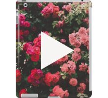 YouTube Logo - Red Floral Background iPad Case/Skin