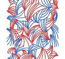 Blue and Red lines by jmarie1