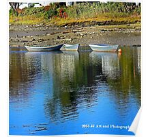 Maine - Boats Kennebunkport Poster