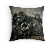 monkey madness Throw Pillow