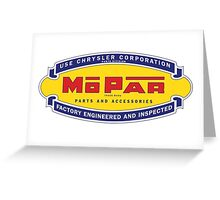 Old MoPar logo Greeting Card