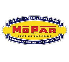 Old MoPar logo Photographic Print
