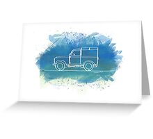 Land Rover Series II - Single Line Greeting Card