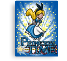 Princess Time - Alice Canvas Print