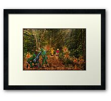 Lilliput and Venus running into a thick forest Framed Print