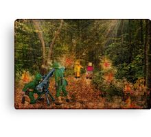 Lilliput and Venus running into a thick forest Canvas Print