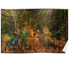 Lilliput and Venus running into a thick forest Poster