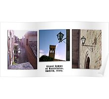 Montefalco Series #10 – High above the narrow winding alleyways are typical Umbrian Street-lights. Poster
