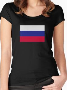 Slovakia flag Women's Fitted Scoop T-Shirt