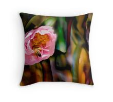 abstracted bee Throw Pillow
