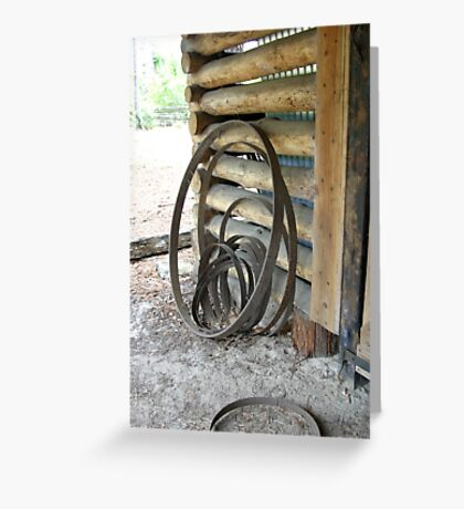 Wheel Hoops Greeting Card