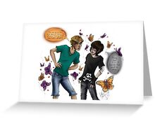 Skeleton Butterflies Greeting Card