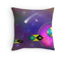 Alien Flyby - Time Lapse Photo Throw Pillow