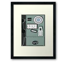 Israeli Old Phone Cabin Framed Print