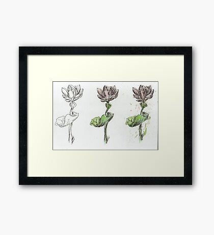stages of growth Framed Print
