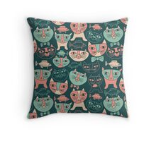 Funny Cats Throw Pillow