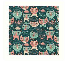 Funny Cats Art Print