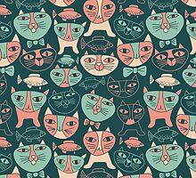 Funny Cats by Olya-Yang