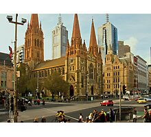 St Paul's Cathedral Melbourne Photographic Print