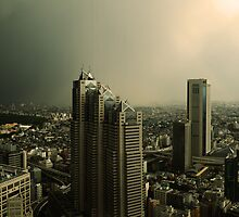 stom over shinjuku by John Adulcikas