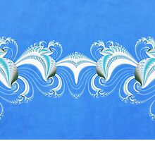 Fractal Dolphins by Fran Riley