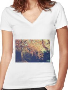 Warm Arms Women's Fitted V-Neck T-Shirt