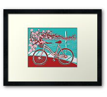 bicycle bloom Framed Print