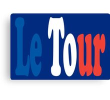 Le Tour Tricolour Canvas Print