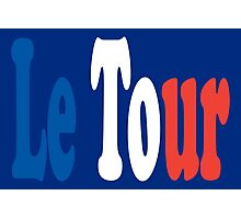 Le Tour Tricolour Photographic Print