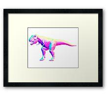 Rainbow Normal T-Rex Framed Print