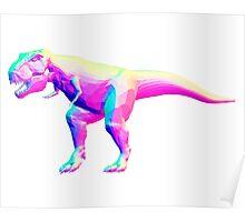 Rainbow Normal T-Rex Poster