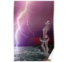 Pink Lightning - Rose & Geoff Coleman Poster