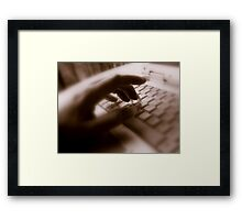 Touch Typed Framed Print