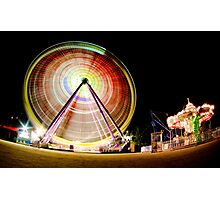 Birrarung Mar Ferris Wheels Photographic Print