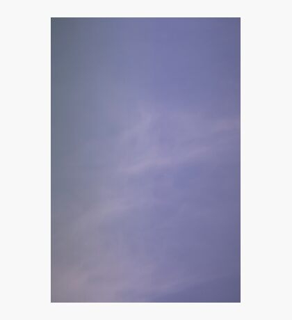 Light blue sky with clouds Photographic Print
