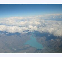 New Zealand, from above the clouds by Amanda Hall