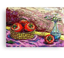 Still Life with Persimmon Canvas Print