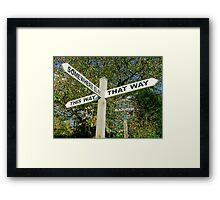 Err...Umm.... Ahhh..... Map Anyone?..... Framed Print
