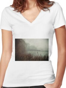 Foggy Five Arches Women's Fitted V-Neck T-Shirt