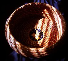Pineneedle basket interior by bajidoo