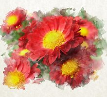 Chrysanthemum Watercolor Art by Christina Rollo