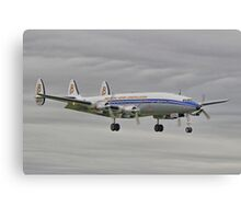 "The Lockheed Constellation (""Connie"") Arrives At Farnborough ! - HDR Canvas Print"